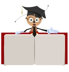 Ant teacher holding open book vector