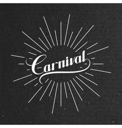 Carnival retro label vector