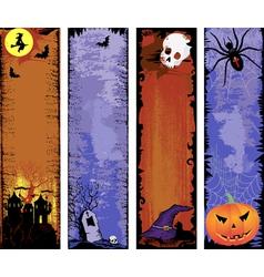 Set of backgrounds halloween vector image