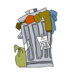 A view of wastebasket vector image