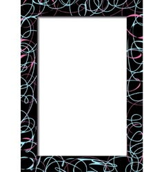 Abstract dark frame with scribbles vector image