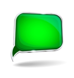 Abstract glossy speech bubble in perspective vector