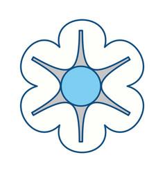 Beautiful flower symbol vector