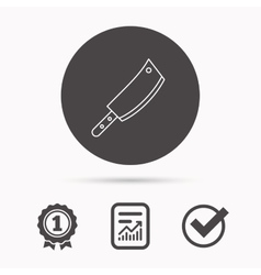 Butcher knife icon kitchen chef tool sign vector