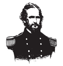 Captain nathaniel lyon vintage vector