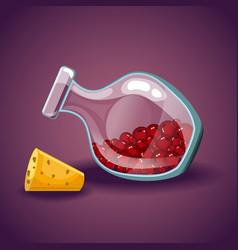 Cartoon bottles with berries vector