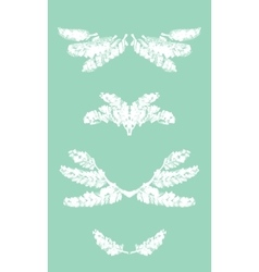 Collection of frames and borders of snowy pine vector image vector image