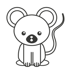 cute animal tender isolated icon vector image
