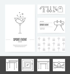 Gymnastics Business Identity vector image vector image