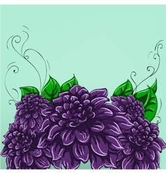 Hand-drawing floral background with flower rose vector