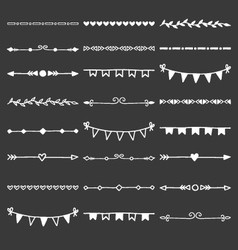 Hand Drawn Dividers Decorative Borders vector image