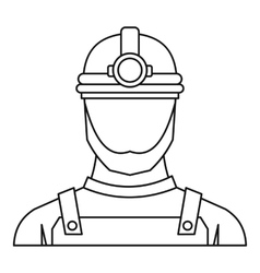 Male miner icon outline style vector