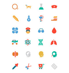 Medical colored icons 2 vector