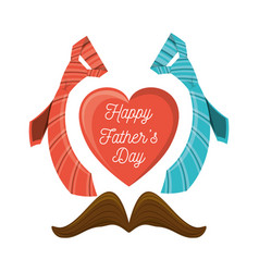 Nice decoration to fathers day celebration vector