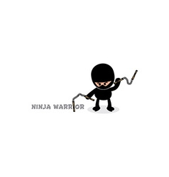 ninja boy cartoon vector image vector image