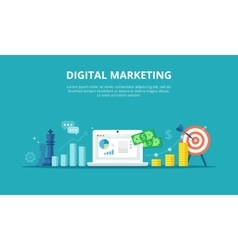 Online marketing internet vector