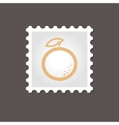 Orange stamp outline vector