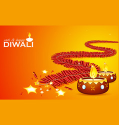 Safe and Happy Diwali vector image vector image