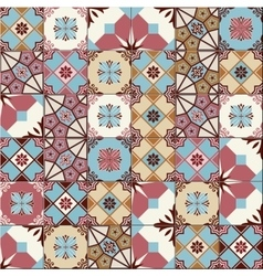 Seamless pattern white turkish moroccan vector