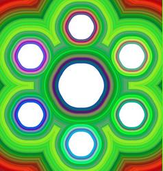 Six part hexagonal infographic background template vector image