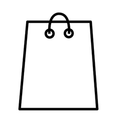 white shopping bag graphic vector image