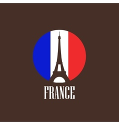 With eiffel tower vector