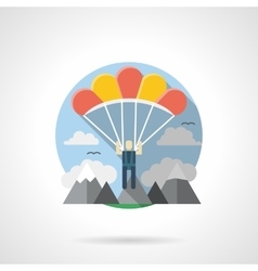 Parachuting color detailed icon vector