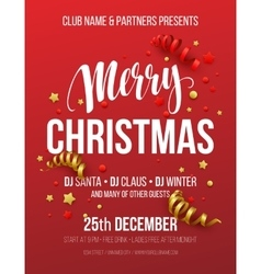 Merry christmas party poster vector