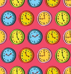 Clocks seamless pattern vector
