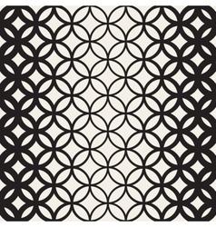 Seamless Black and White Circle Lattice vector image