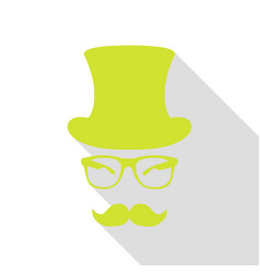 Hipster accessories design pear icon with flat vector