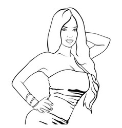 Sexy woman in dress on a background eps vector
