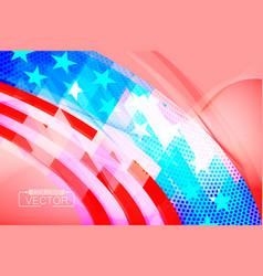 Abstract usa flag shape scene vector