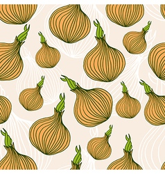 Seamless pattern with hand drawn onions vector image