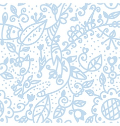 Floral graphic seamless background pastel blue vector image