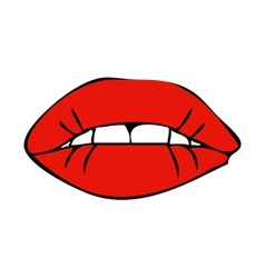 Sensual female mouth vector
