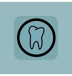 Pale blue tooth sign vector