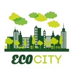 Eco city design vector