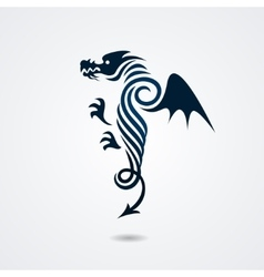 Stylized dragon on white background vector