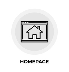Homepage line icon vector