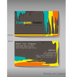 A colourful calling card vector