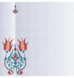 Antique ottoman turkish pattern design ninety five vector