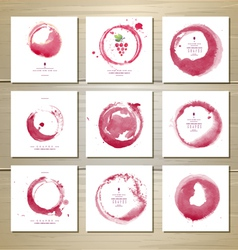 Art wine cards and labels design vector image vector image