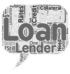 Bad credit score go for bad credit secured loan vector