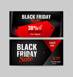 banner black friday vector image