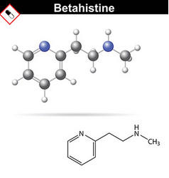 Betahistine medical drug chemical formula vector