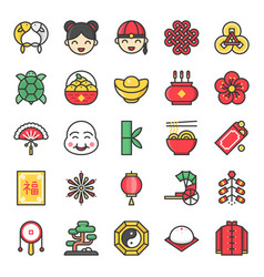 Big set of chinese lunar new year vector