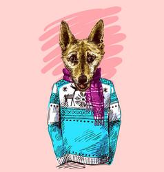 bulldog sketch style dog symbol of vector image vector image