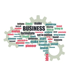 business related words vector image