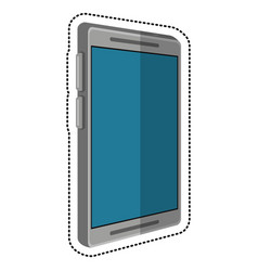 Cartoon mobile phone technology vector